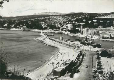 """CPSM FRANCE 13 """"Cassis, la plage et la jetée"""""""