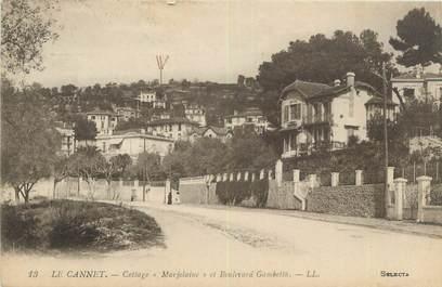 "CPA FRANCE 06 ""Le Cannet, cottage Marjolaine et boulevard Gambetta"""