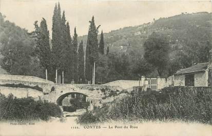"""CPA FRANCE 06 """"Contes, le pont du Riou"""""""
