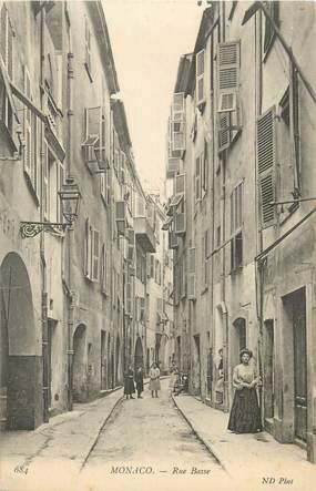 """CPA MONACO, rue Basse"""""""