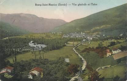 """CPA FRANCE 73 """"Bourg Saint Maurice, vue générale et l'Isère"""""""