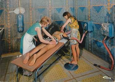 """CPSM FRANCE 73 """"Aix Les Bains, adouche massage"""" / THERMALISME"""