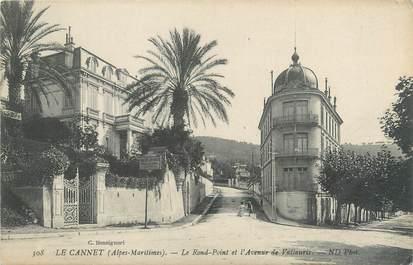 """CPA FRANCE 06 """"Le Cannet, le rond point et l'avenue de Vallauris"""""""