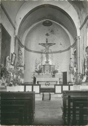 """CPSM FRANCE 06 """"Ascros, intérieur de l'église"""""""