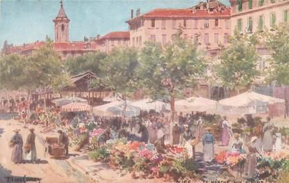 """CPA FRANCE 06 """"Nice, marché aux fleurs"""""""