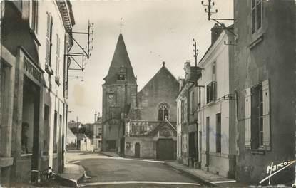 """CPSM FRANCE 37 """"Limeray, la rue principale et l'église"""""""