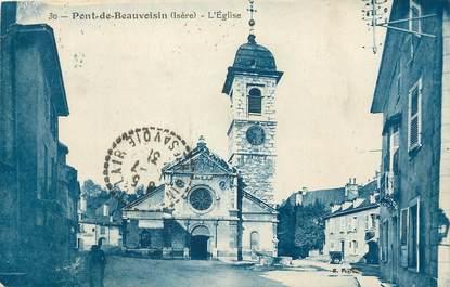"""/ CPA FRANCE 38 """"Pont de Beauvoisin, l'église"""""""