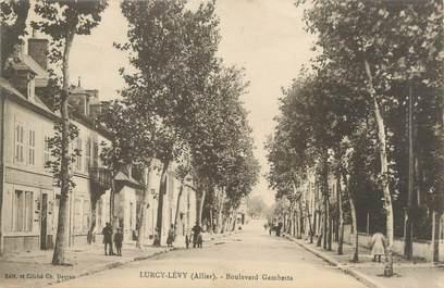 "CPA FRANCE 03 ""Lurcy Lévy, boulevard Gambetta """