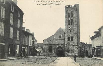 """CPA FRANCE 03 """"Gannat, église Sainte Croix, la façade"""""""