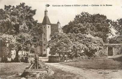 """CPA FRANCE 03 """"Environs de Cosne d'Allier, château de la Brosse"""""""