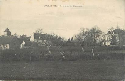 """CPA FRANCE 03 """"Couleuvre, avenue de la Chassagne"""""""