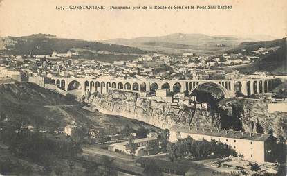 """CPA ALGERIE """"Constantine, panorama pris de la route de sétif"""""""