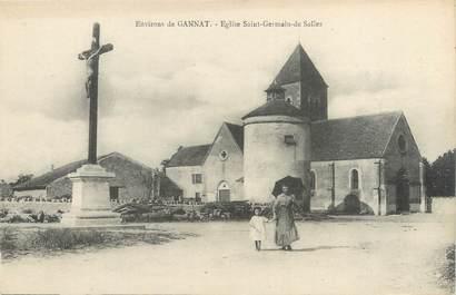 """CPA FRANCE 03 """"Environs de Gannat, église Saint Germain de Salles"""""""