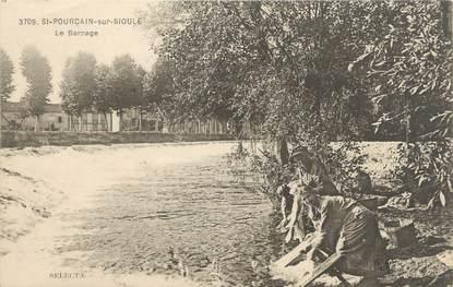 """CPA FRANCE 03 """"Saint Pourçain sur Sioule, le barrage"""" LAVEUSE"""
