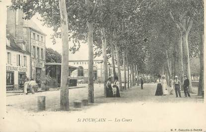 """CPA FRANCE 03 """"Saint Pourçain, les cours"""""""