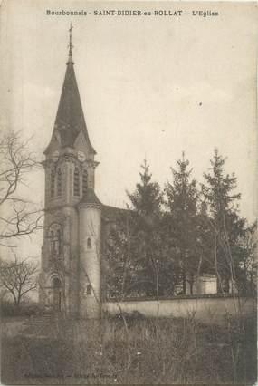 """CPA FRANCE 03 """"Saint Didier en Rollat, l'église"""""""