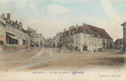"""CPA FRANCE 03 """"Souvigny, la place du marché"""""""