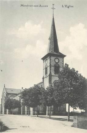 """CPA FRANCE 03 """"Monétay sur Allier, l'église"""""""
