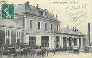 """03 Allier CPA FRANCE 03 """"Montluçon, la gare"""""""