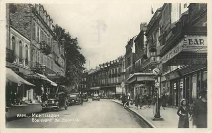 """CPSM FRANCE 03 """"Montluçon, boulevard de Courtais"""""""