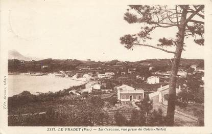"""CPA FRANCE 83 """"Le ¨Pradet, la Garonne, vue prise de Collet Redon"""""""