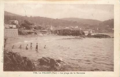 """CPA FRANCE 83 """"Le ¨Pradet, la plage de la Garonne"""""""