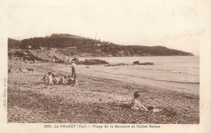 """CPA FRANCE 83 """"Le ¨Pradet, plage de la Garonne et Collet Redon"""""""