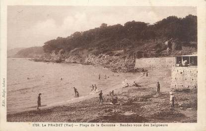 """CPA FRANCE 83 """"Le ¨Pradet, plage de la Garonne, rendez vous des baigneurs"""""""