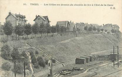 """CPA FRANCE 77 """"Triel, les villas au dessus du chemin de fer"""""""