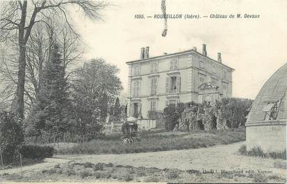 """CPA FRANCE 38 """"Roussillon, château de M Devaux"""""""