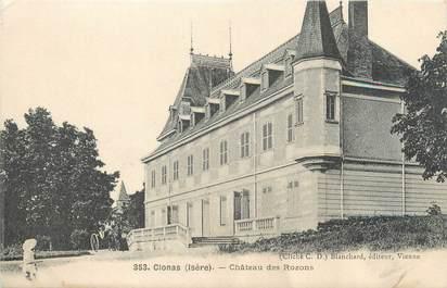 """CPA FRANCE 38 """"Clonas, château des Rozons"""""""