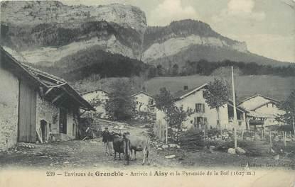 """CPA FRANCE 38 """"Environs de Grenoble, arrivée à Aisy et la Pyramide de la Buf"""""""