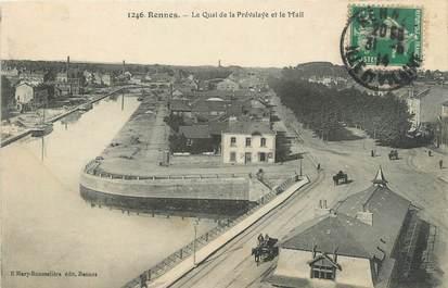 """CPA FRANCE 35 """"Rennes, le quai de la Prévalaye et le mail"""""""