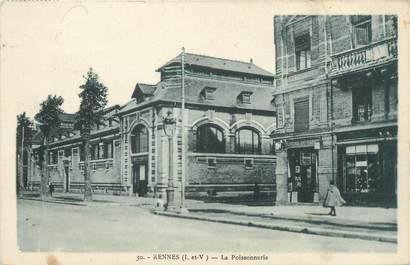 """CPA FRANCE 35 """"Rennes, la poissonnerie"""""""