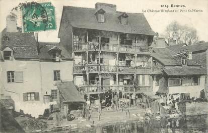 """CPA FRANCE 35 """"Rennes, le château branlant au Pont Saint Martin"""""""