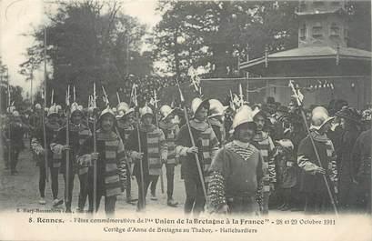 """CPA FRANCE 35 """"Rennes, fêtes commémoratives de l'union de la Bretagne à la France"""""""