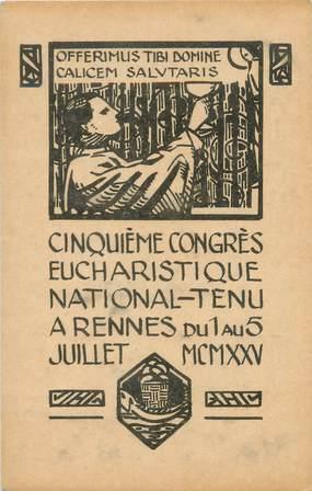 """CPA FRANCE 35 """"Rennes, 5ème congrés Eucharistique National"""""""