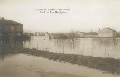 """CPA FRANCE 92 """"Rueil, rue Martignon"""" / INONDATIONS 1910"""