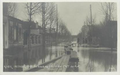 """CPA FRANCE 92 """"Rueil, au bout de l'avenue du chemin de fer"""" / INONDATIONS 1910"""