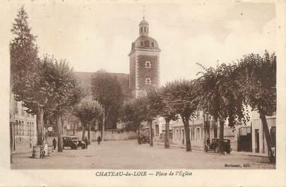 """CPA FRANCE 72 """"Chateau du Loir, place de l'église"""""""