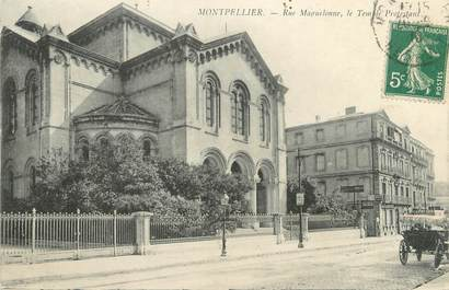 """CPA FRANCE 34 """"Montpellier, rue Maguelonne, le temple protestant"""""""
