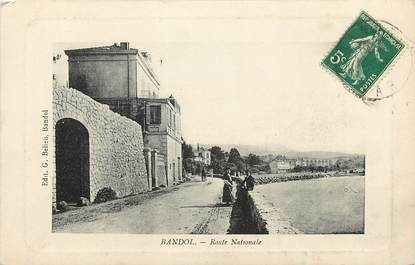 "CPA FRANCE 83 ""Bandol, Rte Nationale"""