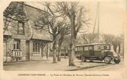 """93 Seine Saint Deni CPA FRANCE 93 """"Gournay sur Marne, la poste et l'autobus du service Champs Gournay Chelles"""" / BUS"""