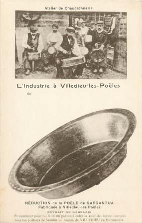 """CPA FRANCE 50 """"Villedieu les Poëles, l'industrie, atelier de Chaudronnerie"""""""