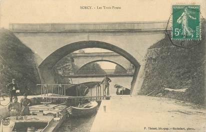 """CPA FRANCE 55 """"Sorcy, les trois ponts"""""""