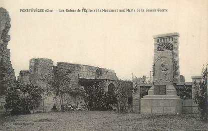 """CPA FRANCE 60 """"Pont l'Evêque, les ruines de l'église"""""""