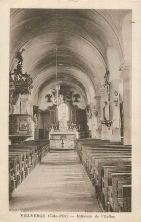 """CPA FRANCE 21 """"Vielverge, intérieur de l'église"""""""