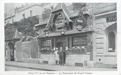 """CPA FRANCE 75017 """"Paris, la rue Demours, le restaurant du grand Veneur"""""""