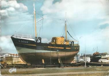 """CPSM FRANCE 56 """"Lorient, bateaux sur Cale"""""""