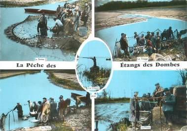 """CPSM FRANCE 01 """"La pêche des Etangs des Dombes"""""""